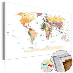 Kép parafán - World Map [Cork Map]