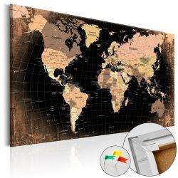 Kép parafán - Planet Earth [Cork Map]