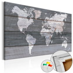 Kép parafán - Grey Earth [Cork Map]