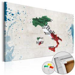 Kép parafán - Italy [Cork Map]