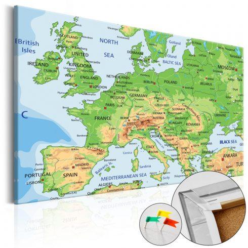Világtérkép parafán - Europe [Cork Map]