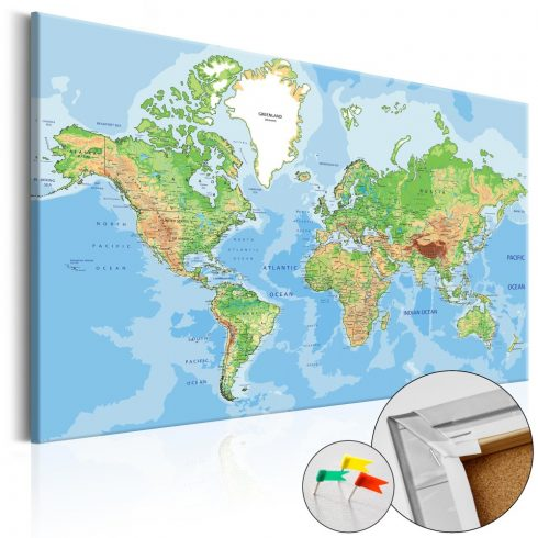 Világtérkép parafán - World Geography [Cork Map]