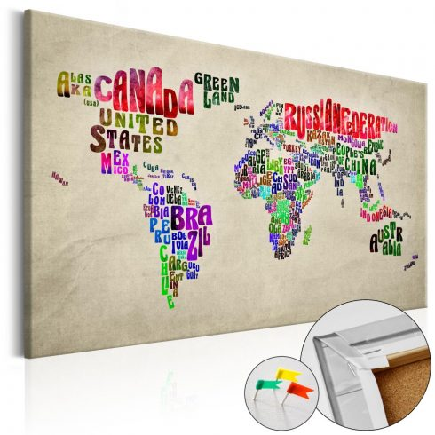 Világtérkép parafán - Global Tournée (EN) [Cork Map]