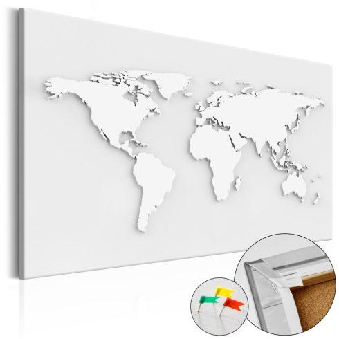 Világtérkép parafán - Monochromatic World [Cork Map]
