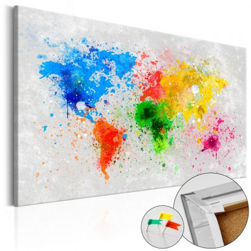 Világtérkép parafán - Expressionism of the World [Cork Map]