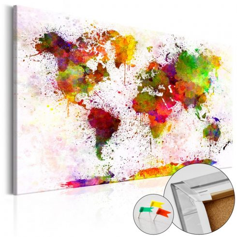 Világtérkép parafán - Artistic World [Cork Map]