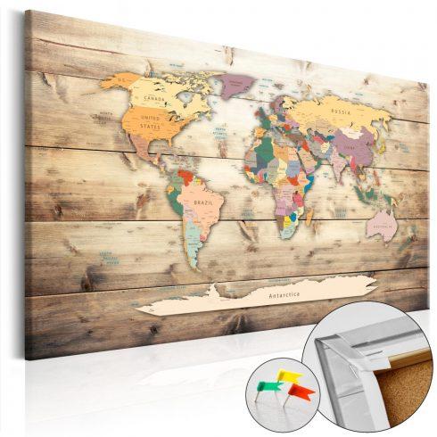 Világtérkép parafán - The World at Your Fingertips [Cork Map]