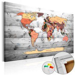 Kép parafán - Direction World [Cork Map]