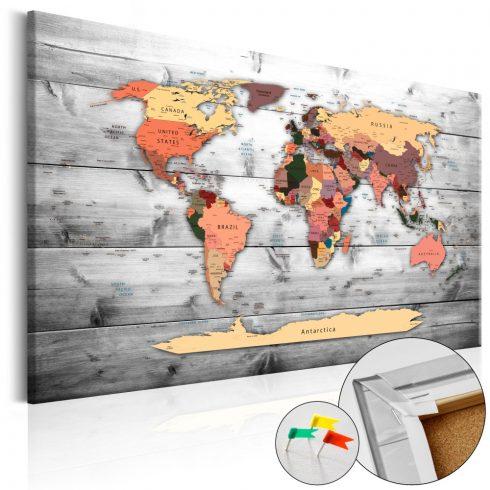 Világtérkép parafán - Direction World [Cork Map]