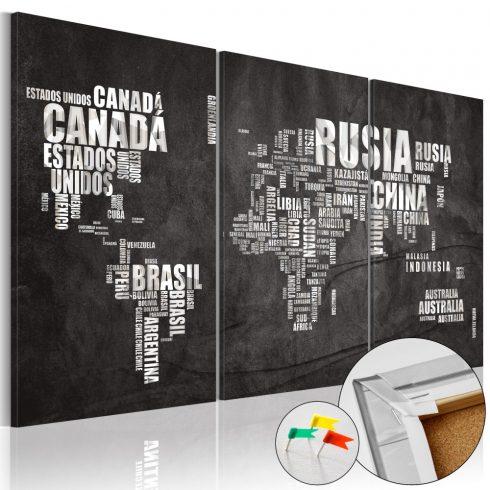 Világtérkép parafán - El Mundo [Cork Map]