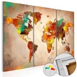 Kép parafán - Painted World [Cork Map]