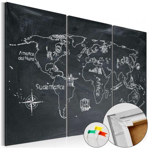 Világtérkép parafán - Geography lesson [Cork Map]