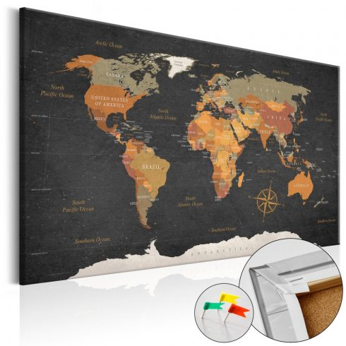 Világtérkép parafán - Secrets of the Earth [Cork Map]