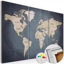 Kép parafán - Anthracitic World [Cork Map]