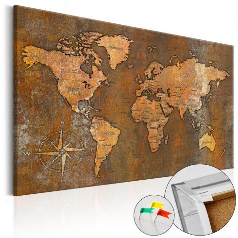 Világtérkép parafán - Rusty World [Cork Map]