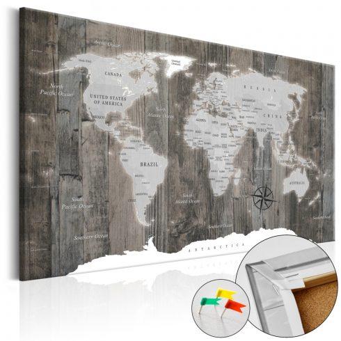Világtérkép parafán - World of Wood [Cork Map]