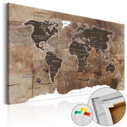 Kép parafán - Wooden Mosaic [Cork Map]