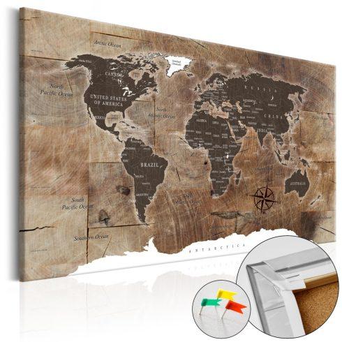 Világtérkép parafán - Wooden Mosaic [Cork Map]