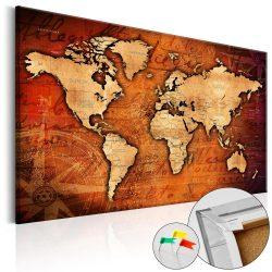 Kép parafán - Amber World [Cork Map]