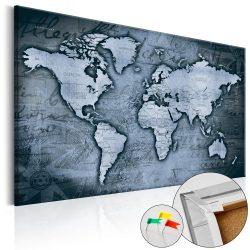 Kép parafán - Sapphire World [Cork Map]