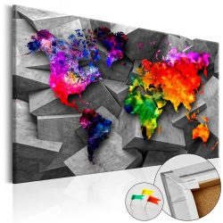 Kép parafán - Cubic World [Cork Map]