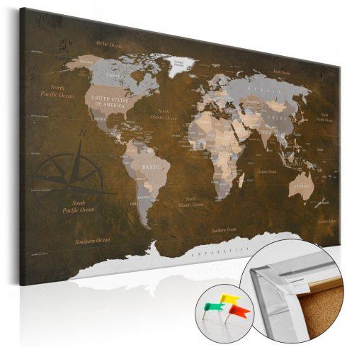 Világtérkép parafán - Cinnamon Travels [Cork Map]
