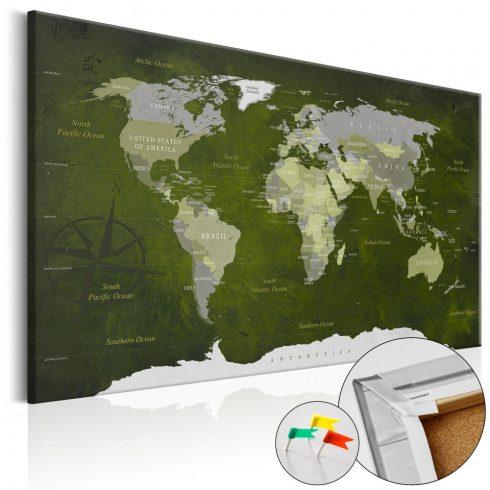 Világtérkép parafán - Malachite World [Cork Map]