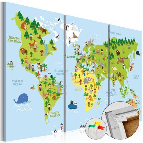 Világtérkép parafán - Children's World [Cork Map]