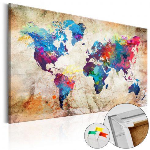 Világtérkép parafán - World Map: Urban Style  [Cork Map]