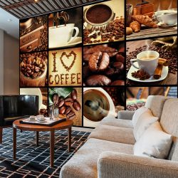 Fotótapéta - Coffee - Collage  7 féle méretben