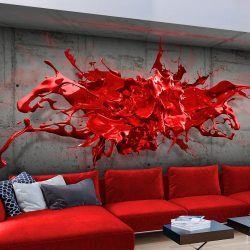 Fotótapéta - Red Ink Blot