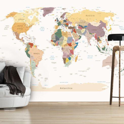 Fotótapéta - World Map  7 féle méretben   -  ajandekpont.hu