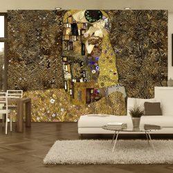 Fotótapéta - Klimt inspiration: Golden Kiss  7 féle méretben