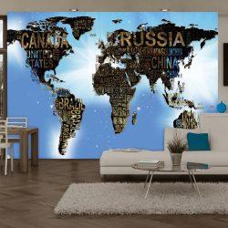 Fotótapéta - World Map - Blue Inspiration  7 féle méretben