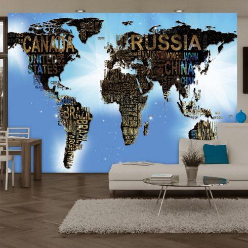Fotótapéta - World Map - Blue Inspiration  7 féle méretben   -  ajandekpont.hu