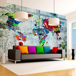 Fotótapéta - Map - Graffiti  7 féle méretben