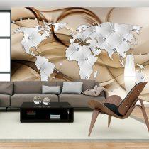 Fotótapéta - World Map - White & Diamonds  7 féle méretben   -  ajandekpont.hu