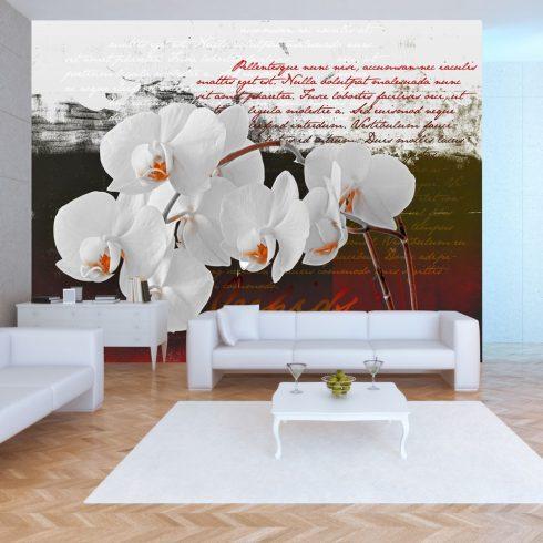 Fotótapéta - Diary and orchid  -  ajandekpont.hu