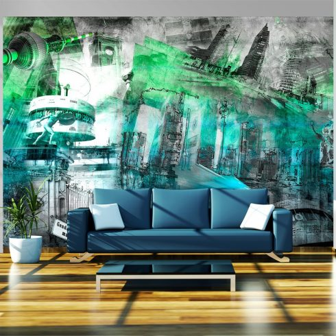 Fotótapéta - Berlin - collage (green)  -  ajandekpont.hu