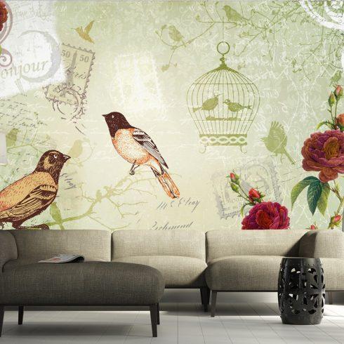 Fotótapéta - Vintage birds  -  ajandekpont.hu