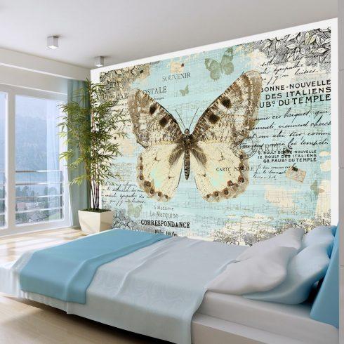 Fotótapéta - Postcard with butterfly  -  ajandekpont.hu