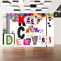 Fotótapéta - Keep Calm and Design