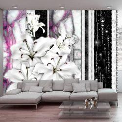 Fotótapéta - Crying lilies on purple marble