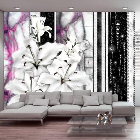 Fotótapéta - Crying lilies on purple marble  -  ajandekpont.hu