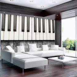Fotótapéta - Inspired by Chopin - grey wood