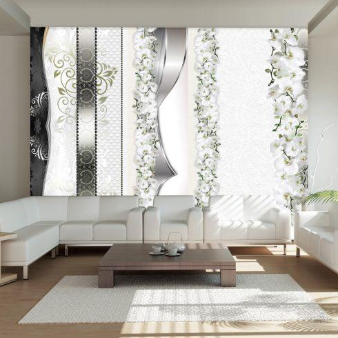 Fotótapéta - Parade of orchids in shades of gray  -  ajandekpont.hu