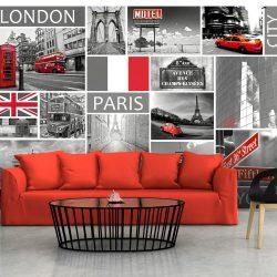 Fotótapéta - London, Paris, Berlin, New York