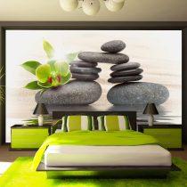 Fotótapéta - Green orchid and zen stones - Ajándékpont.hu