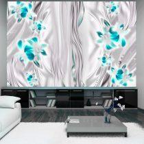 Fotótapéta - Cyan orchids in platinum
