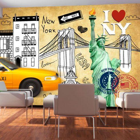 Fotótapéta - One way - New York  -  ajandekpont.hu